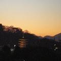 Photos: 高幡不動尊の五重塔に富士山 08/12/20