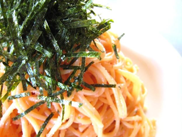 辛子明太子のスパゲッティ・・・