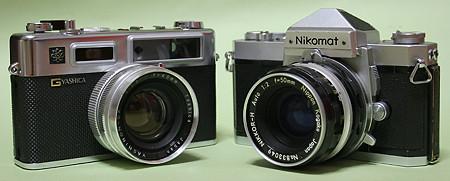 ヤシカ エレクトロ35とニコン ニコマートFTN