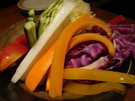 野菜の活造り