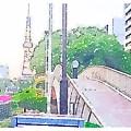 写真: Waterlogue:久屋大通公園の歩道橋 - 1