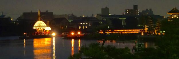 堀川まつり 2014 No - 175:七里の渡しと「まきわら船」の曳き廻し(Twitterプロフィール用)
