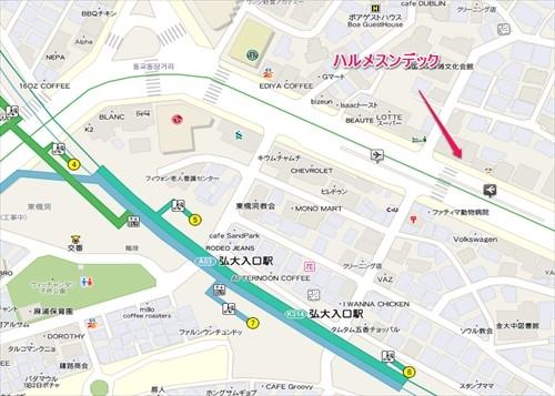 写真: ハルメ弘大地図_R