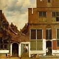 写真: フェルメール-デルフトの小路1657-58