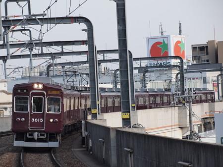 阪急3000系急行 阪急宝塚線豊中駅2