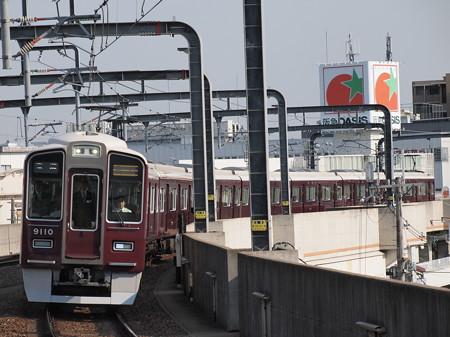 阪急9000系急行 阪急宝塚線豊中駅