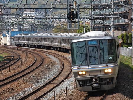 223系新快速 東海道本線サントリーカーブ4