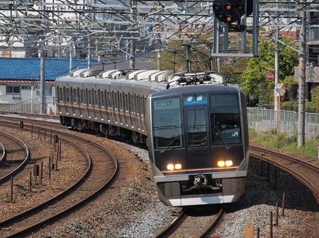 321系普通 東海道本線サントリーカーブ