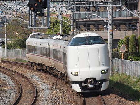 287系こうのとり回送 東海道本線サントリーカーブ