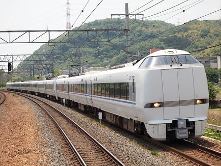 683系特急サンダーバード 東海道本線島本駅01