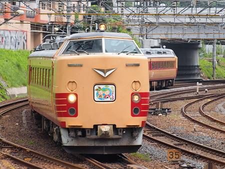 485系仙山線さくらんぼ号 東北本線仙台総合車両センター~仙台02