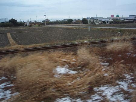 名松線の車窓(紀勢本線との合流)