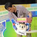 Photos: 松下先生セッティング中。