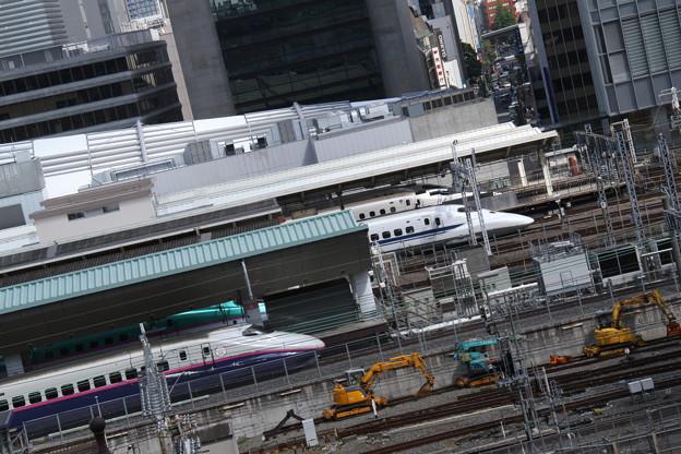 JPタワーから、新幹線ホーム 5月1日