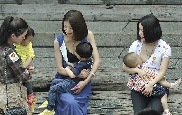 """Photos: 福州?""""哺乳快?"""" 倡?母乳喂?9"""