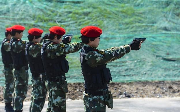 新疆の公安訓練 (1)