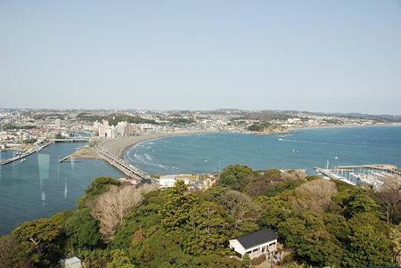 江ノ島の展望灯台から見た風景