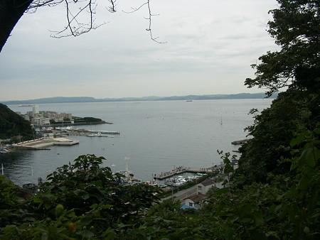 愛宕山より浦賀沖を望む