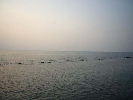オロロンラインの海岸線