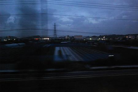 車窓から・暗雲