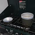 Photos: ツーバーナーで玄米炊飯1