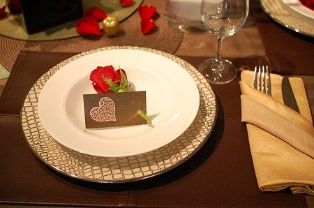 薔薇とメッセージカード