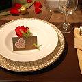 写真: 薔薇とメッセージカード