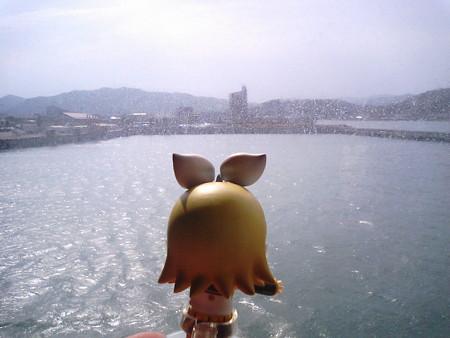 リン:「臼杵港に到着ぅー\(≧▽≦)/