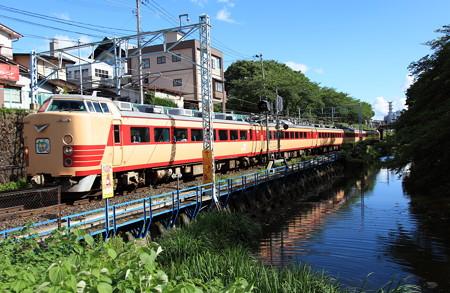 485系仙山線さくらんぼ号霞城公園1