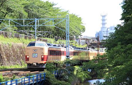 485系仙山線さくらんぼ号霞城公園3