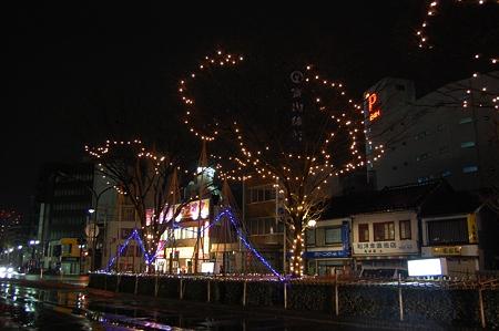 富山駅前のイルミネーション