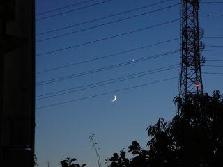 一番星と月
