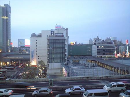 渋谷駅を献血ルームから俯瞰