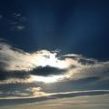 Photos: 彩雲現象と光芒