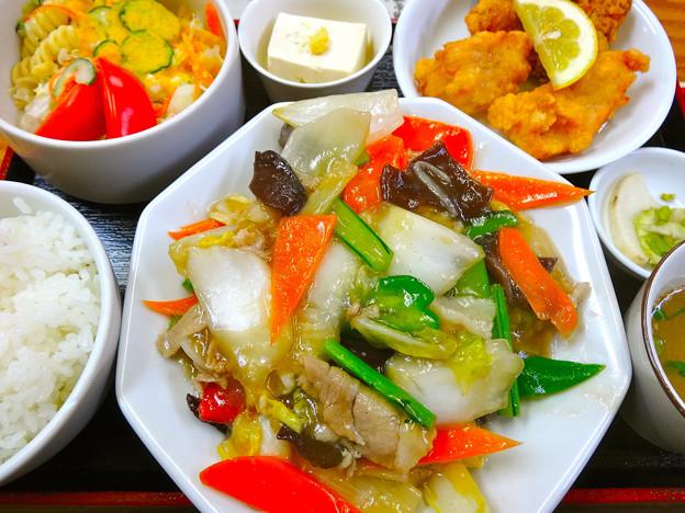 てんしん中華店 日替ランチ 八宝菜 広島市南区的場町 Tianjin