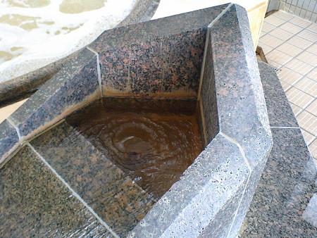 平和島温泉 湯口