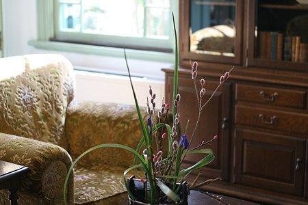 2009.02.22 ブラフ18番館 応接に花
