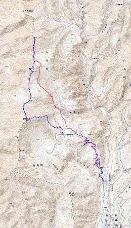 20080316石徹白 日岸山-薙刀山-野伏ヶ岳山スキー GPSログ