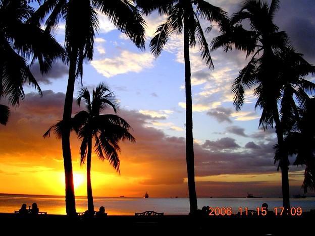 ニラ湾夕陽