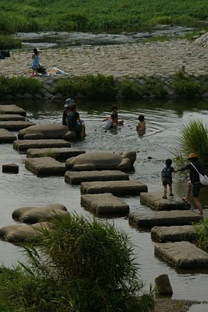 亀石での水遊び0807ta