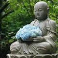 Photos: 花想い地蔵と紫陽花!140607