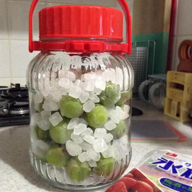 梅ジュース氷砂糖で