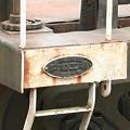 写真: 元国鉄ホキ800形の銘板