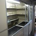 写真: 0系新幹線の車内・ここは売店スペースだったのかな?