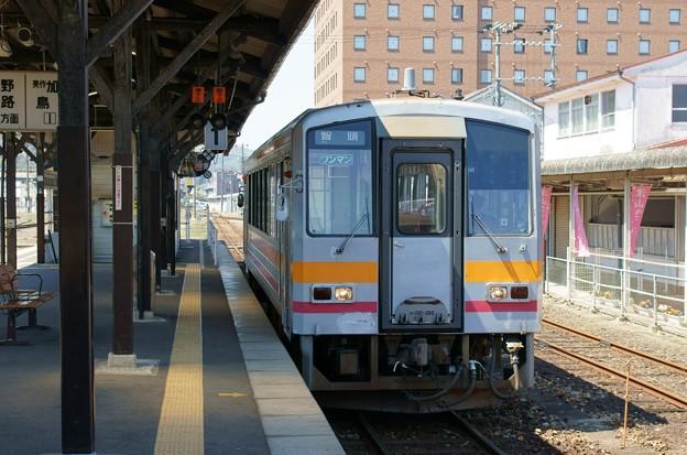 キハ120 津山駅にて