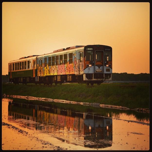 ~ 夕暮れの水鏡 ~ ひたちなか海浜鉄道