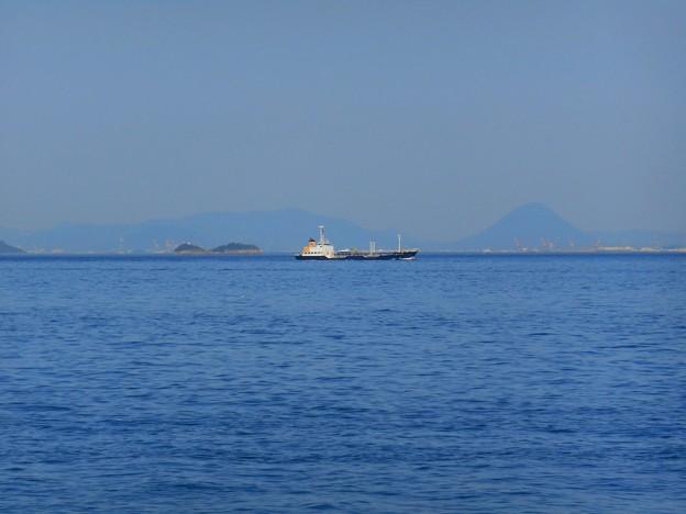 新緑の候:GWの燧灘から讃岐富士が見える♪