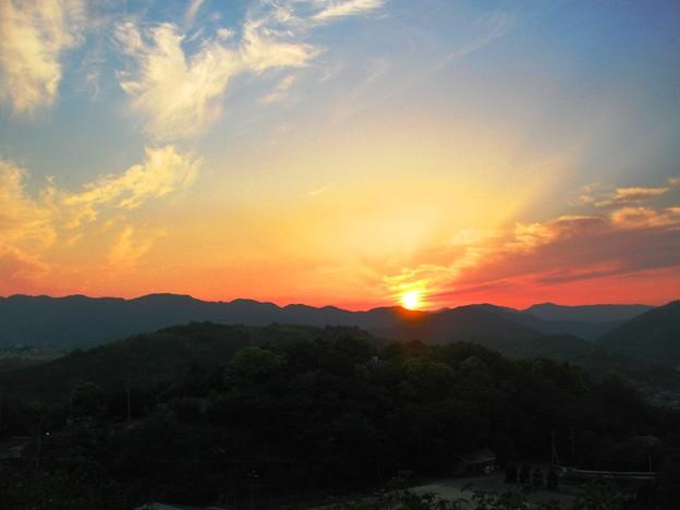 さつき亭から観た瀬戸の夕日-4