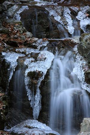 真冬の渓流