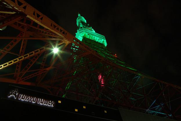 セントパトリックデーの東京タワー